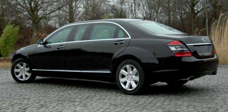 Удлиненный Бронированный Mercedes-Benz S600L (W221) класс брони B6/B7.